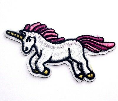 Unicorn Embroidered Iron Sew On Patch Applique Badge Motif pony horse