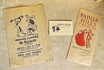 Padua Hills Theatre - Mexican Players - Mi Pueblito 1954 Shops Dining Theater