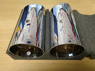 Audi A3 S3 Chrome Tailpipes Exhaust 8V0253825A S3 2013 - 2014  New Genuine
