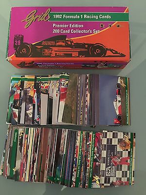 Formula 1 RACING CARDS 1992 Grid Premiere Edition 200 Card Collector's Set