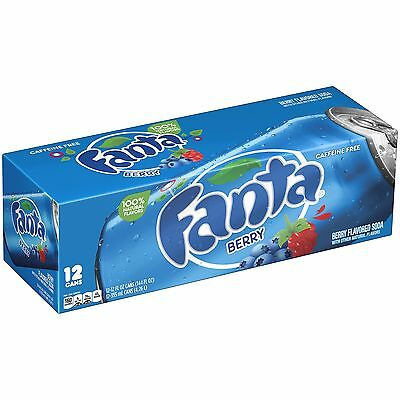 Fanta Berry - AMERICAN IMPORT SODA - Rare - 12 Pack (12x 355ml cans)