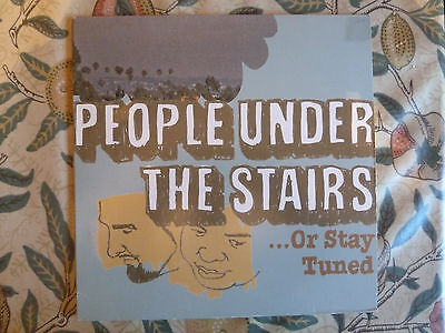 People Under The Stairs - ...Or Stay Tuned 2xLP Hip Hop 2003 Om Records RARE