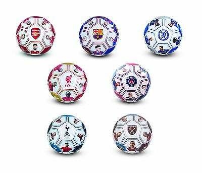 Football Soccer Ball Team Club Crest Badge Players Signatures Size 5 Official