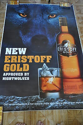 affiche grand format vodka New Eristoff Gold nightwolves 176 x 118 cm poster