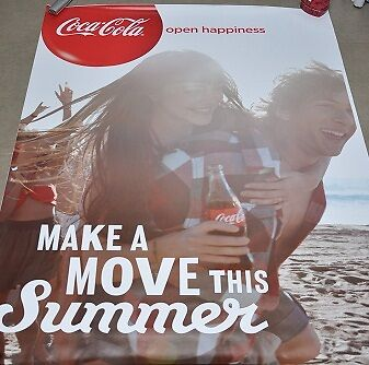 affiche grand format Coca-Cola make a move this summer 176 x 118 cm poster