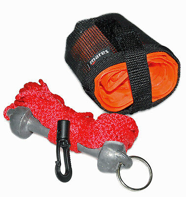 Mares - Divers Compact SMB - Marker Buoy, Line and Weight - Scuba Diving Safety
