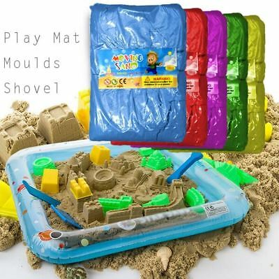 11PCS Magic Motion Moving 2kg Sand Play Mat Moulds Set  Moving Dough