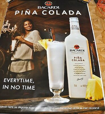 affiche grand format Bacardi Pina Colada 176 x 118 cm poster