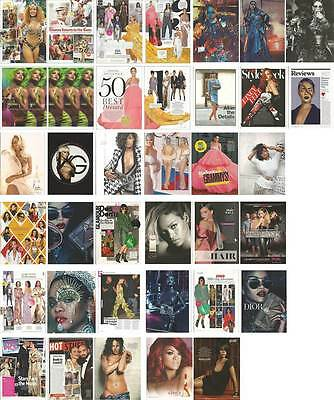 Singer RIHANNA Lot of 33 clippings pages, print ads, pin up