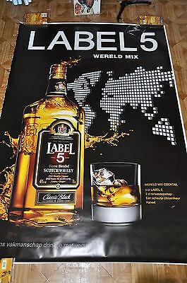 affiche grand format nl Scotch whisky Label 5 wereld mix 176 x 118 cm poster