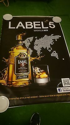 affiche grand format scotch wisky Label 5 world mix 176 x 118 cm poster