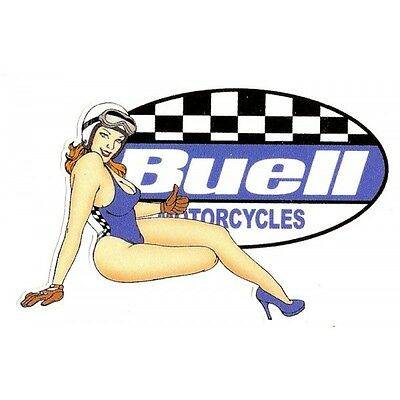 BUELL right Sticker pin up droite