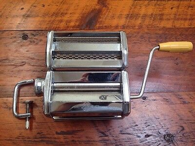 MARCATO Atlas Model 150mm Stainless Steel Made in Italy Homemade Pasta Maker