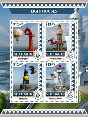 Z08 IMPERFOARTED SLM16509a SOLOMON ISLANDS 2016 Lighthouses MNH ** Postfrisch