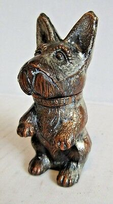 Vintage Table Lighter Metal Dog