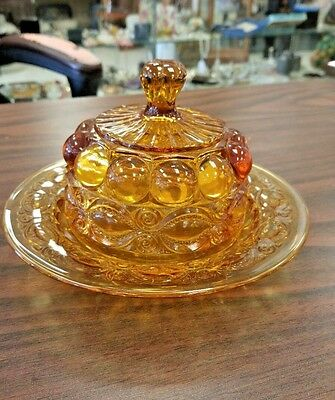 Beautiful Amber Eyewinker Covered Butter - Cheese Dish