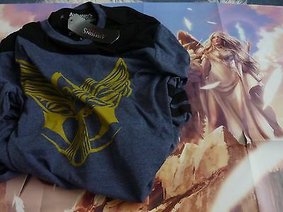 Loot crate T-Shirt Assassins creed jackdaw crest tee Large L New & Poster + Box