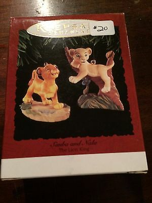 1994 Hallmark Disney The Lion King SIMBA AND NALA   NEW