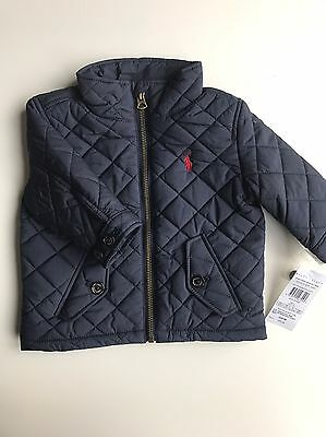 BNWT Authentic Ralph Lauren Baby/boys Quilted Baracudu Jacket/coat Age 9m,12m