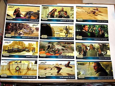1999 Star Wars Episode 1 Widevision TOPPS Expansion Set CHASE INSERT 30 CARD LOT