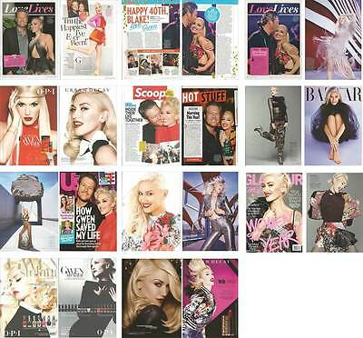 Singer entertainer GWEN STEFANI Lot of 21 clippings pages, print ads, pin up