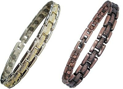 Mens or Womens Magnetic Therapy Bracelet Copper Alloy Pain Relief Bangle