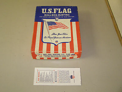 Vintage 5'x8' Pre-1959 48 Star American Flag by Bull Dog Bunting United States