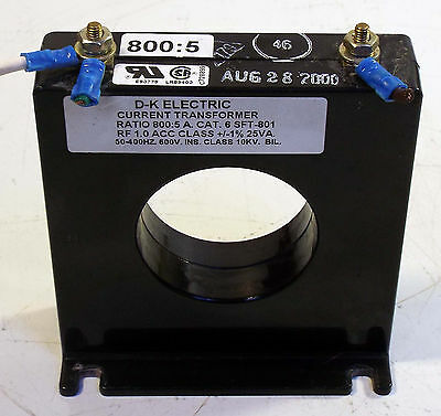 1 Used D-K Electric 6Sft-801 Current Transformer