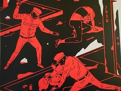 "Cleon Peterson  "" Night Has Come ""  Signed 2014"