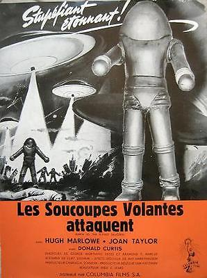 EARTH VS THE FLYING SAUCERS 1956 Fred Sears - French PRESSBOOK