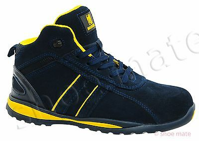 Mens Ankle Leather Lightweight Steel Toe Cap Safety Shoes Trainers Boots Work Z