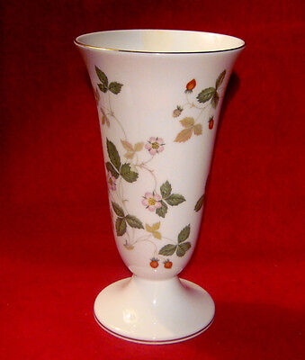 "Wedgwood *wild Strawberry* 7"" Footed Vase Made In England"