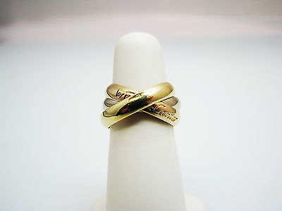 Very Nice les must de Cartier Rolling Ring in 18k Yellow, White & Pink Gold
