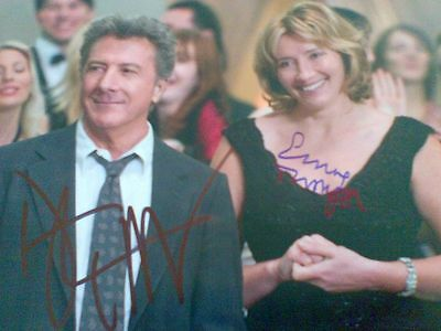 Original Autograph of Emma Thompson & Dustin Hoffman (In Person)