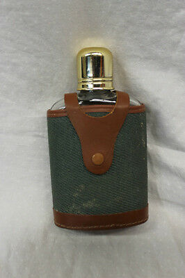 Abercrombie & Fitch Vintage Flask Case Made In England Hip Flask Nice Condition