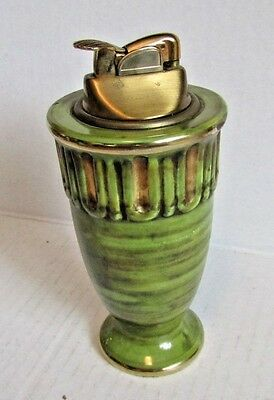 Vintage Table Lighter Evans Green Art Deco