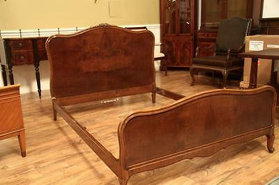 Antique French Walnut Full Size Bed Frame by John Widdicomb