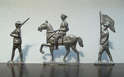 U.S. Military Soldiers - Lead Toy Soldiers - Set of 3 - Made Ffrom Vintage Molds