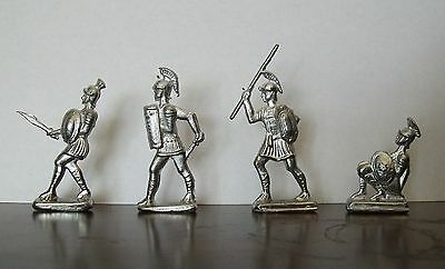 Roman Soldiers - Lead Toys - Set of 4 Soldiers - From Vintage Mold