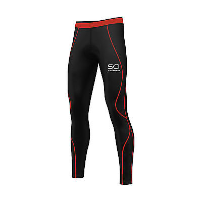 SCI Mens Compression Cycling Tights Coolmax® Padded Cycle Leggings Long Pants