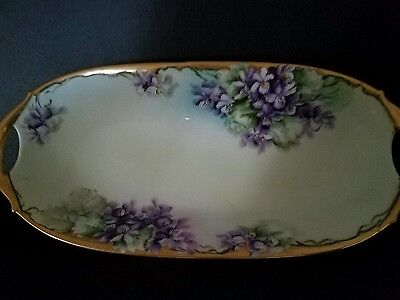 Vintage Celery Dishes Bavaria Signed