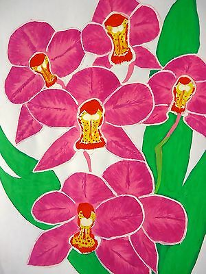 Artwork floral pink flowers watercolour