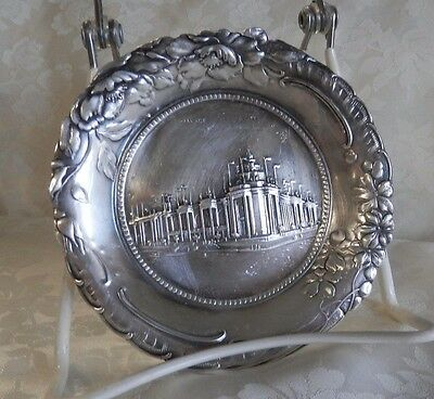Small Silver Plate Pin Tray 1904 World's Fair St. Louis Palace Of Electricity