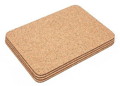 Thick Cork Rectangular Placemats Coasters Table Mats Dining