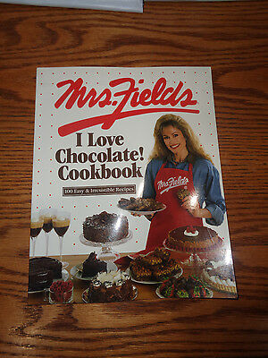 The Mrs. Fields I Love Chocolate Cookbook by Debbi Fields - Softcover Like New
