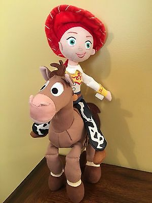 Toy Story Jessi and Bullseye Plush Toys Dolls Disney Pixar Cowgirl Horse EUC
