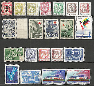 Finland , a nice small collection stamps , mint MNH (**)