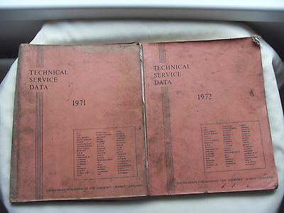 Vintage - Technical Service Data - Car Manuals 1971 And 1972