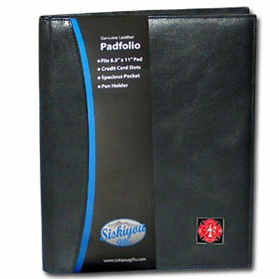 Genuine Black Leather Firefighter Executive Portfolio