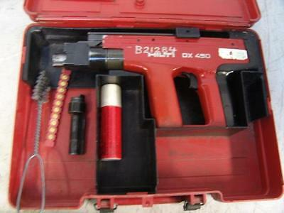 Hilti DX-450 Powder Actuated Fastening Systems Nail Gun Kit With Case